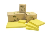 Post-it blok 653 Genbrugspapir, 38 x 51 mm. - 6 stk