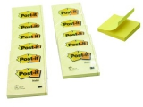 Post-it blok 654 76x76mm., blk. a 100 bl. - 12 stk
