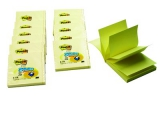 Post-it Z-fold 3M, gul 76mmx76mm - 12 stk
