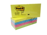 Post-it blokke 3M neon 38x51mm - 12 stk