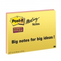 Post-it mødenotes 98,4x149 mm, Super Sticky - 4 blokke