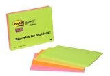 Post-it mødenotes 149x200 mm, Super Sticky - 4 blokke