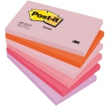 Post-it blokke 3M neon 127x76 - 6 stk