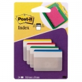 Post-it Index faner 50,8 x 38mm, kraftig - 1 pakke