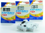 Dymo 1000-5500 tape sort/klar, 19mm - 1 stk