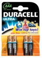 Batteri Duracell MN2400, Ultra Power LR03 AAA - 4 stk