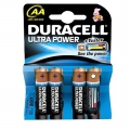 Batteri Duracell MN1500, Ultra Power LR6 AA - 4 stk.
