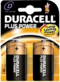 Batteri Duracell MN1300 TYPE D, Plus Power LR20  - 2 stk