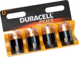 Batteri Duracell MN1400 TYPE C, Plus Power LR14  - 4 stk