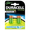 Batteri Duracell AAA genopl., StayCharged HR03  - 4 stk