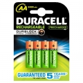 Batteri Duracell AA genopl., StayCharged HR6 - 4 stk