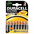 Batteri Duracell MN2400 AAA, Plus Power - 8 stk.