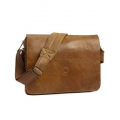 Leather messenger bag for PC & MacBooks up to 16\'\' Golden ta