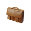 Leather briefcase with pockets for PC & MacBooks up to 16\'\'