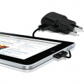 Puro Mini Travel Charger + iPad Cable 2.1A Black