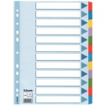 Esselte Mylar divider A4 12 tabs Multicolour 10 stk