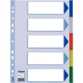 Esselte divider PP A4 5 tabs Multicolour 20 stk
