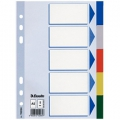 Esselte divider PP A5 5 tabs Multicolour 20 stk
