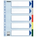 Esselte divider PP A4 Maxi 5 tabs Multicolour 20 stk