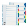 Esselte divider PP A4 Maxi 10 tabs Multicolour 10 stk