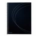 Esselte Momo notepad A5 Spiral Ruled Black cover 10 stk