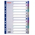 Esselte divider PP A4 12 tabs MC Transparent 10 stk