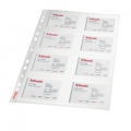 Esselte pocket Business Card glass clear 105my 10 stk