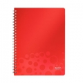 Leitz Bebop notepad A4 Ruled 80sh w/hole Red 6 stk
