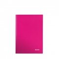 Notesbog - Leitz A5 Ruled 90g/80sh Pink 6 stk