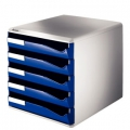 Leitz Post-set 5 drawers A4 Blue 1 stk